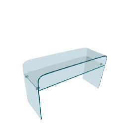 Geneva Glass Console Table, Clear glass Reviews