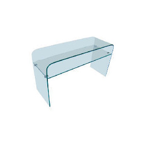 Photo of Geneva Glass Console Table, Clear Glass Furniture