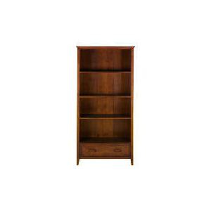 Photo of Belize 1 Drawer Tall Bookcase, Dark Finish Furniture