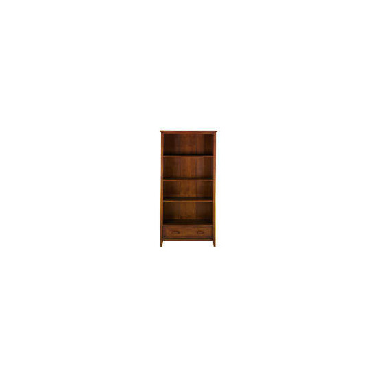 Belize 1 drawer Tall Bookcase, dark finish