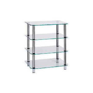 Photo of Glass & Steel 4 Shelf Hi-Fi Unit Furniture