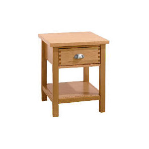Photo of Oakland 1 Drawer Side Table, Oak Furniture