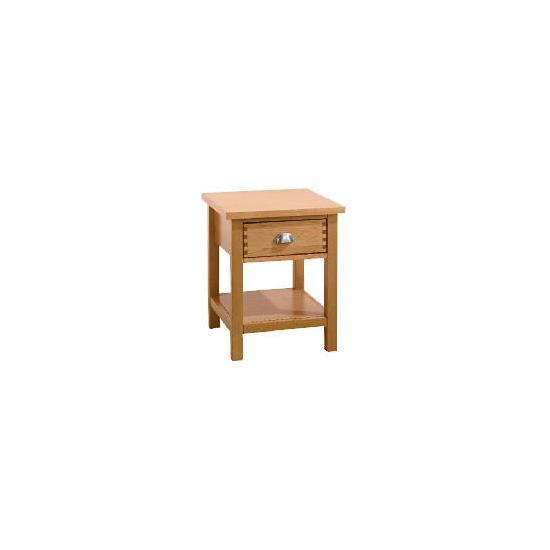 Oakland 1 Drawer Side Table, Oak