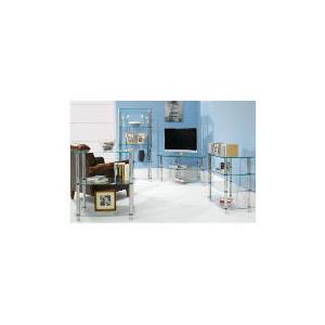 Photo of Glass & Steel 3 Shelf Storage Furniture