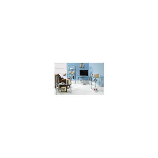 Glass & Steel 3 Shelf Storage