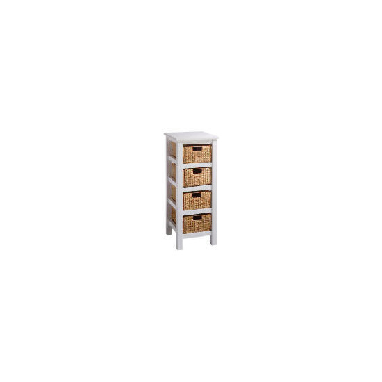 Manila 4 Drawer Storage, White
