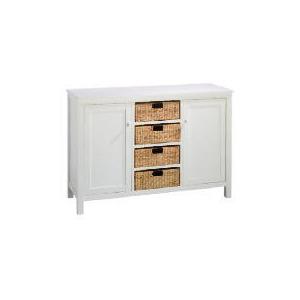 Photo of Manila 4 Drawer 2 Door Sideboard, White Furniture