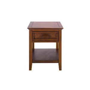 Photo of Belize 1 Drawer Side Table, Dark Finish Furniture