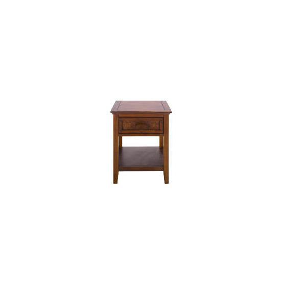 Belize 1 drawer Side Table, dark finish