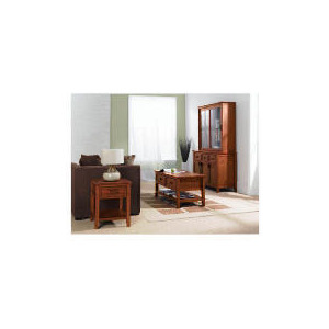 Photo of Belize 2 Doors Display Cabinet, Antique Finish Furniture