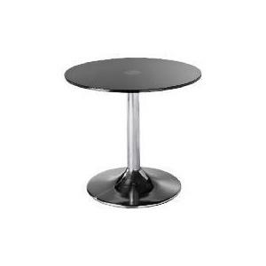 Photo of Novara Glass & Metal Side Table, Black Furniture