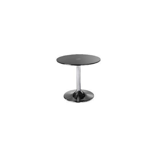 Novara Glass & Metal Side Table, Black