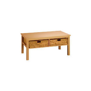 Photo of Manila 2 Drawer Coffee Table, Natural Furniture