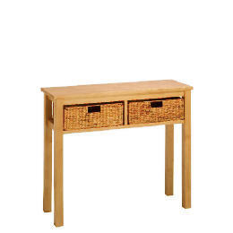 Manila 2 Drawer Console Table, Natural Reviews