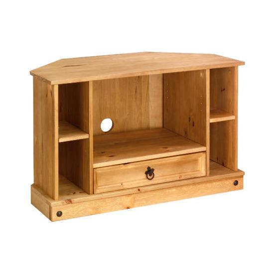 Honduras Corner Tv Cabinet, Pine