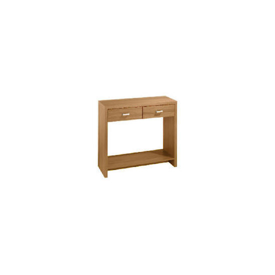 Munich 2 drawer Console, Oak effect