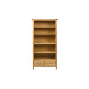 Photo of Hamilton 2 Drawer Tall Bookcase, Oak Furniture