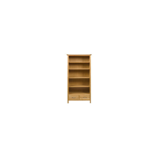 Hamilton 2 drawer Tall Bookcase, Oak