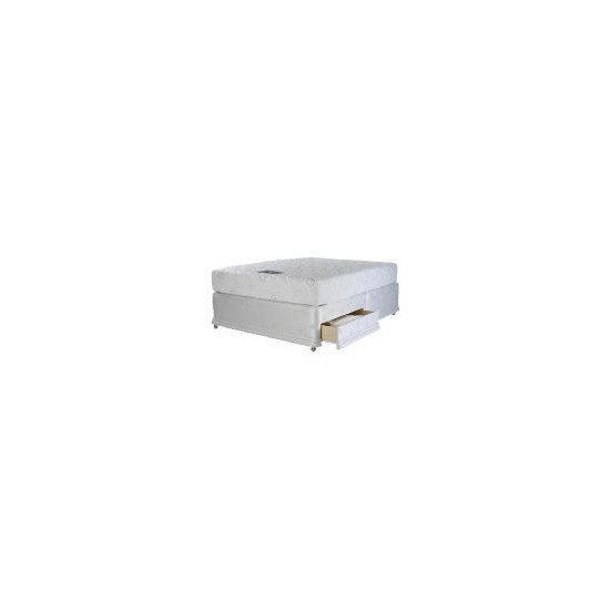 Finest Memory Sleep King 2 drawer Divan Set