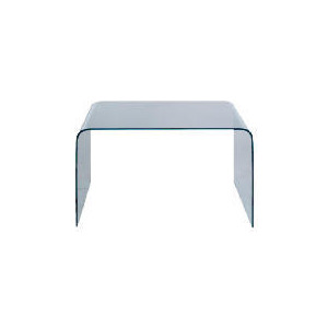 Photo of Geneva Glass Desk, Clear Glass Furniture