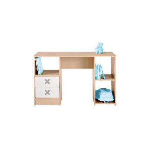 Photo of Cottonwood Dressing Table/Desk With 2 Drawers, White Furniture
