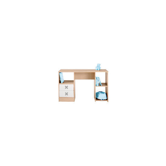 Cottonwood Dressing Table/Desk with 2 drawers, White