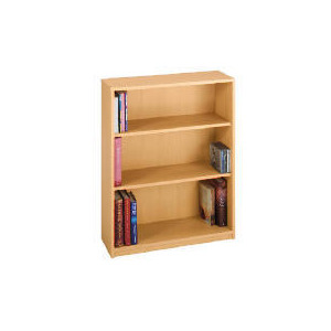Photo of Freshman 3 Shelf Bookcase, Beech Effect Furniture