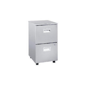 Photo of Reno 2 Drawer Filing Cabinet, Silver Effect Furniture