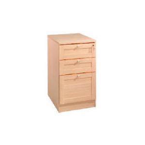 Photo of Oak Framed Modular 3 Drawer Filer, Oak Effect Furniture