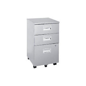 Photo of Reno 3 Drawer Filing Cabinet, Silver Effect Furniture