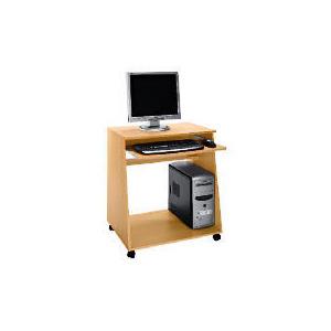 Photo of Freshman Computer Trolley, Beech Effect Computer Desk
