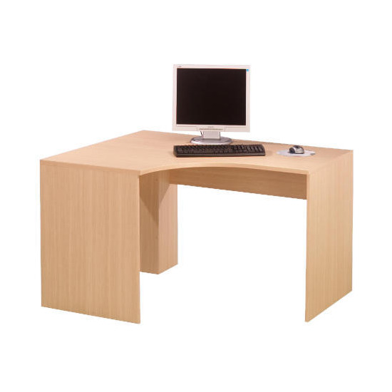 Oak Framed Modular corner desk, oak effect