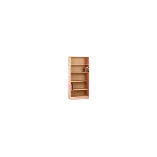 Oak Framed Modular tall bookcase, oak effect