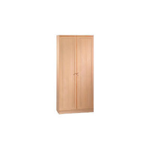 Photo of Oak Framed Modular Tall Twin Doored Cupboard, Oak Effect Furniture