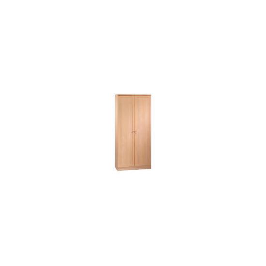 Oak Framed Modular tall twin doored cupboard, oak effect