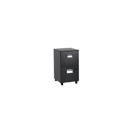 Reno 2 drawer Filing Cabinet, Matt Black