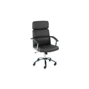 Photo of Lyon Leather Faced Executive Chair, Dark Chocolate Office Furniture