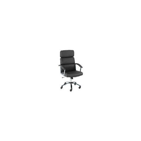 Lyon leather faced executive chair, dark chocolate