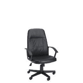 Hamburg Hi-Back Leather Faced Managers Office Chair, Black Reviews