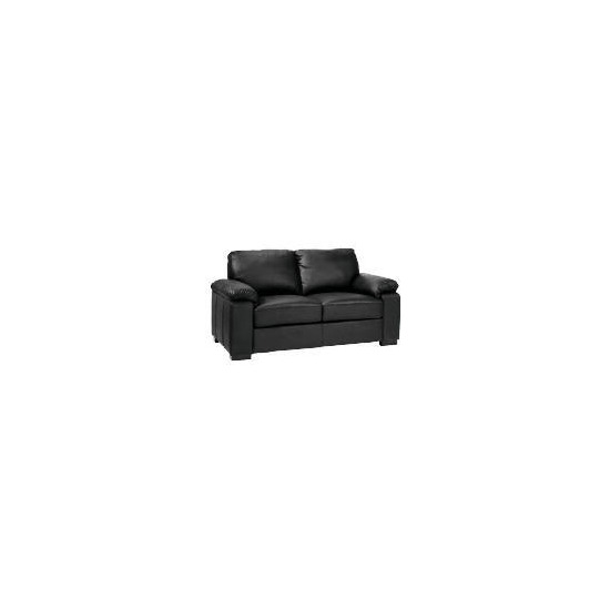 Ashmore  Leather Sofa, Black
