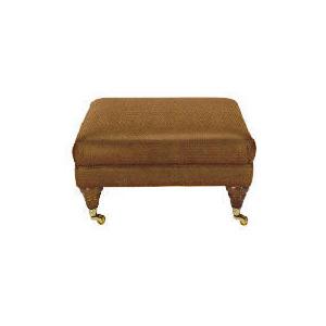 Photo of Finest Bloomsbury Made To Order Lattice Footstool, Mocha Furniture