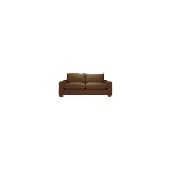 Finest Dakota Made to Order large Chenille Sofa, Mocha