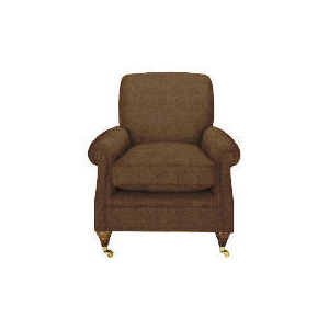 Photo of Finest Bloomsbury Made To Order Club Chenille Chair, Mocha Furniture