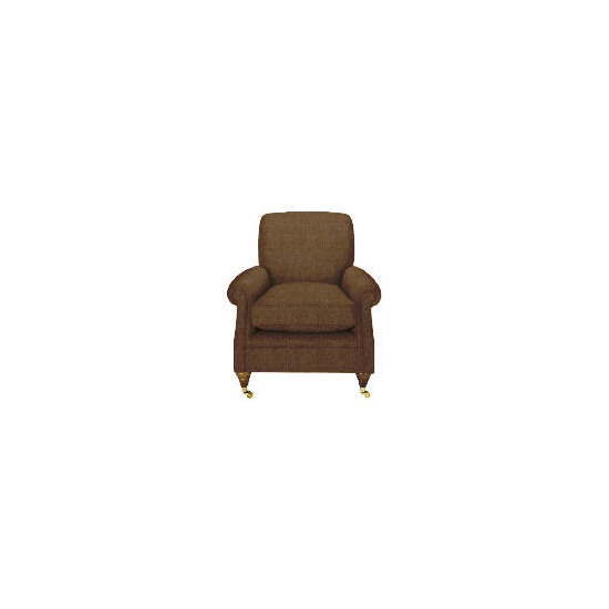 Finest Bloomsbury Made to Order Club Chenille Chair, Mocha