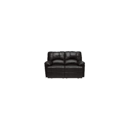 Harlowe Leather Recliner Sofa, Black