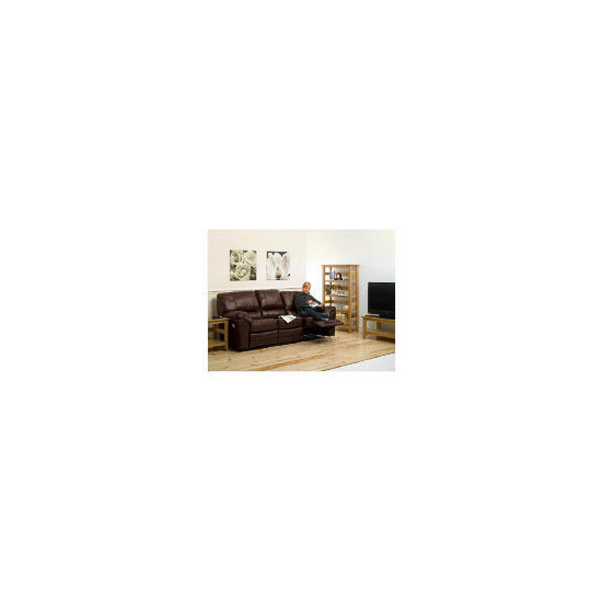 Madrid large Leather Recliner Sofa, Brown