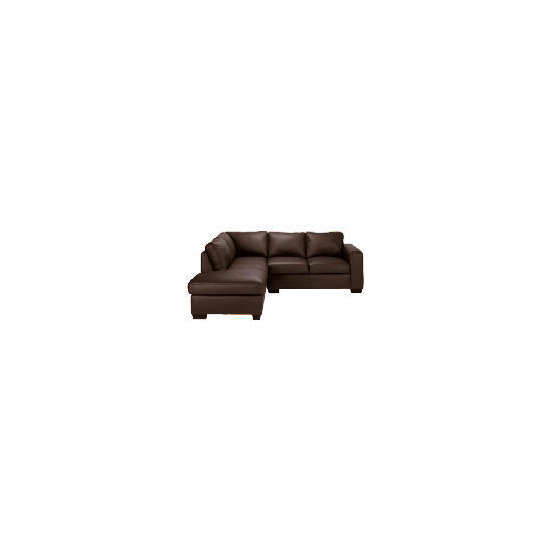 Aspen Left Hand Corner Leather Sofa, Brown