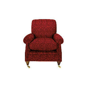 Photo of Finest Bloomsbury Made To Order Club Jacquard Chair, Claret Furniture