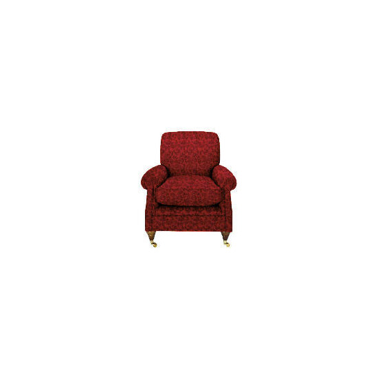 Finest Bloomsbury Made to Order Club Jacquard Chair, Claret
