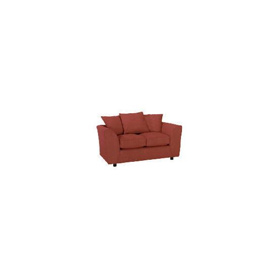 Enna Fabric Sofa - Brick
